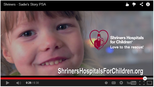 Shriners Hospitals for Children PSA screencap