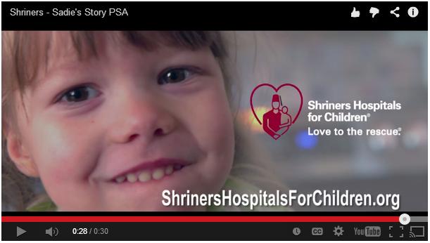 Shriners Hospitals for Children PSA screencap